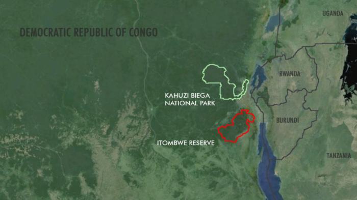 overzichtskaart Itombwe Kahuzi biega